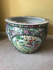 More details for large oriental satsuma style ceramic planter 11.5