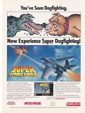 Original 1992 SUPER STRIKE EAGLE Nintendo SNES video game print ad page