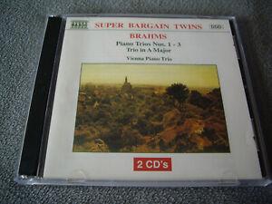 2 CDs  BRAHMS - Piano Trios 1-3 - Vienna Piano Trio