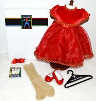 American Girl Holiday Dress Pleasant Company Berry Christmas Red Retired w/ Box