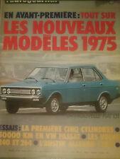 L'AUTO JOURNAL 1974 16 VOLKSWAGEN PASSAT AUSTIN ALLEGRO 1300 GP ALLEMAGNE AUTRIC