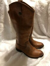 FRYE Melissa Button Boots Women's 7B Brown Leather Tall Knee Riding Boot Western