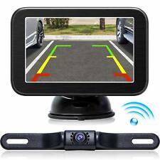 eRapta Wireless Backup Camera with Monitor System 5'' LCD Wireless Monitor Rearv