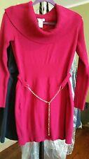 BCBG MAX AZRIA KNIT SWEATER DRESS