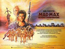 "MAD MAX III  3 BEYOND THUNDERDOME repro UK cinema quad poster 30x40"" TINA TURNER"