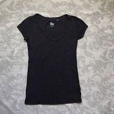 Womens/Juniors Brown Basic Tee Size XS V-neck