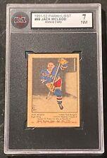 1951-52 Parkhurst #98 Jack McLeod RC Rookie Card KSA 7 NM !