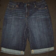 Chico's SO SLIMMING GIRLFRIEND SHORTS Size 2 Large 12  14 Blue Jeans NEW $69