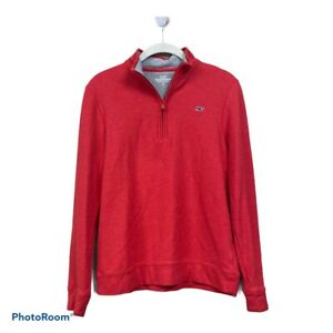 Vineyard Vines Boys Red Quarter Zip Pullover Sweater Large