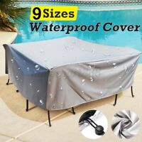 Outdoor Garden Furniture Covers PVC Waterproof Patio Rattan UV Table Cube Set