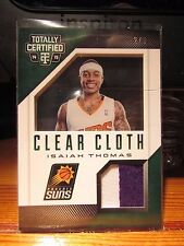 2014-15 PANINI TOTALLY CERTIFIED ISAIAH THOMAS PATCH 2/5 SUNS 2-COLOR PHOENIX