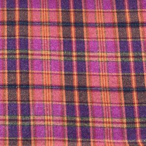 P KAUFMANN WOOL PLAID UPHOLSTERY FABRIC INVERNESS CL FIRECRACKER BY THE YARD