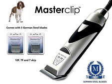 Springer Spaniel Dog Clippers Clipping Set with 3 Clipper Blades with Masterclip