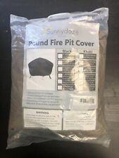 New listing Sunnydaze Durable Round Fire Pit Cover- Long-Lasting Pvc - Khaki - 60-Inch