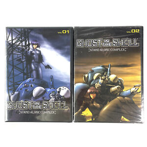 Ghost In The Shell Stand Alone Complex Volume 1 and 2 Region 1 DVD NEW Sealed