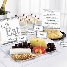 ** 12 PIECE SILVER ANNIVERSARY BUFFET KIT SIGNS 25 YEARS 25th PARTY NEW WEDDING