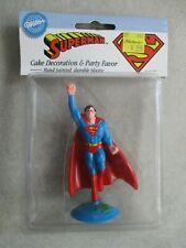 VINTAGE 1994 DC COMICS SUPERMAN CAKE DECORATION & PARTY FAVOR MIP BY WILTON
