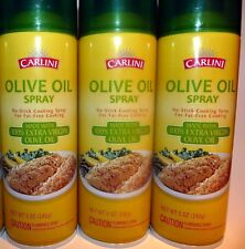 (3) Carlini Premium No-Stick Cooking Spray 100% Natural (Extra Virgin) OLIVE OIL