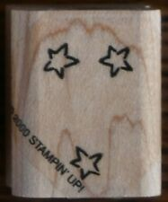 Stampin Up Three Stars Rubber Stamp Star