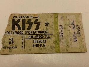 VINTAGE 1978 KISS CONCERT TICKET STUB HOLLYWOOD SPORTATORIUM HOLLYWOOD FLORIDA