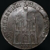 1794 | Sussex Chichester Elizabeth I Half-Penny Token | Tokens | KM Coins