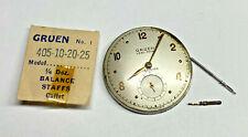 Vintage Gruen 410 17J Veri-thin Movement for Parts or Repair