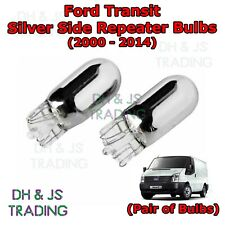 Ford Transit Van Chrome / Silver Indicator Bulbs Flash Side Tail Pair (00-14)