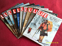 Lot of 10 LIFE Magazines..Charlie Chaplin's Daughter, Yvette Mimieux, Garbo..VG+