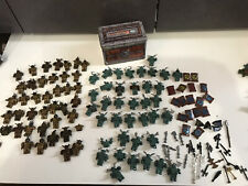 Lot Mega Bloks Blocks Krystal Wars mini figures Knights Weapons Storage Tin lot