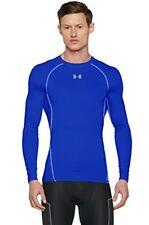 Under Armour Hommes Heatgear manches longues Compression T shirt UA couche L Royal/acier