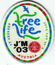 Boy Scout / Girl Guide badge ST GEORGEN FREE LIFE JAMBOREE 2003 Austria