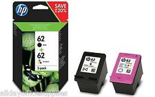 Original HP 62 Inkjet Cartridge Multipack, Black C2P04AE Colour C2P06AE