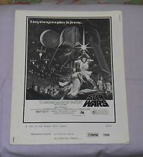 original STAR WARS PRESSBOOK advertising ad slicks George Lucas Harrison Ford