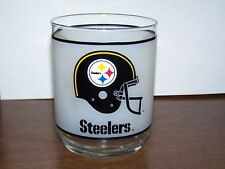 PITTSBURGH STEELERS 70'S NFL MOBILE OIL DRINKING GLASS