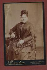 Edinburgh. Lady Victorian dress lace hat cabinet photograph qh325