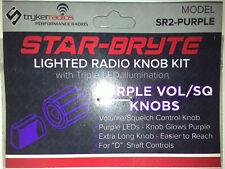 Stryker Star-Bryte Sr2 Purple Led Lighted Volume/Squelch Knob Kit