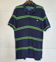 VTG 90's American Eagle Outfitters Mens The Eagle Polo Golf Shirts LG Blue Green