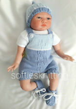 More details for hand knitted baby clothes / romper set / reborn 20''-21''outfit 3 piece set