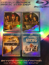 4 Disney Family Movies New pirates of the caribbean (2)/invincible/eight below