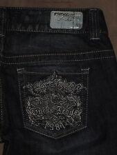 Guess Jeans Size 28 Daredevil Boot Cut Dark Blue Stretch Denim Womens Jeans