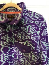 186. Women's  Patagonia Synchilla Snap-T Ikat Big Fish Pullover M Retro Purple