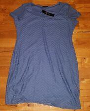 NWT Womens TIANA B. denim Blue Lace Overlay Short Sleeve Dress Size M $98
