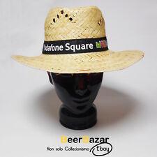 Cappello paglia + nastro Vodafone Square Night spiaggia estate unisex M 56