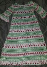 Girl's Lolly Wolly Doodle Reindeer Christmas Dress Sz. 14