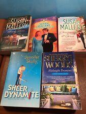 5 Harlequin Romance Novels - Sherryl Woods, Jennifer Skully, and 3 Susan Mallery