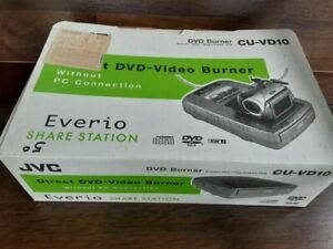 JVC Everio Share Station Direct DVD-Video Burner for Camcorders CU-VD10 Complete