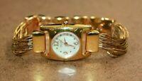 Ecclissi Gold Tone Multi-Strand Bracelet MOP Dial Women's Watch 80441 [03WEI]