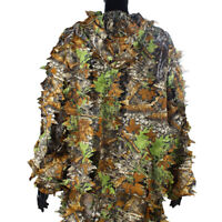 3D Leafy Tactical Camo Camouflage Clothing Ghillie Suit Jungle Woodland Hunting