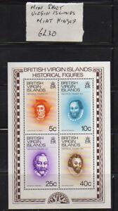 VIRGIN ISLANDS MINI SHEET MINT HINGED  6L30