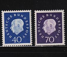 1959 Germany Heuss40 & 70pf Sc#796, 797 Mint Light Hinge